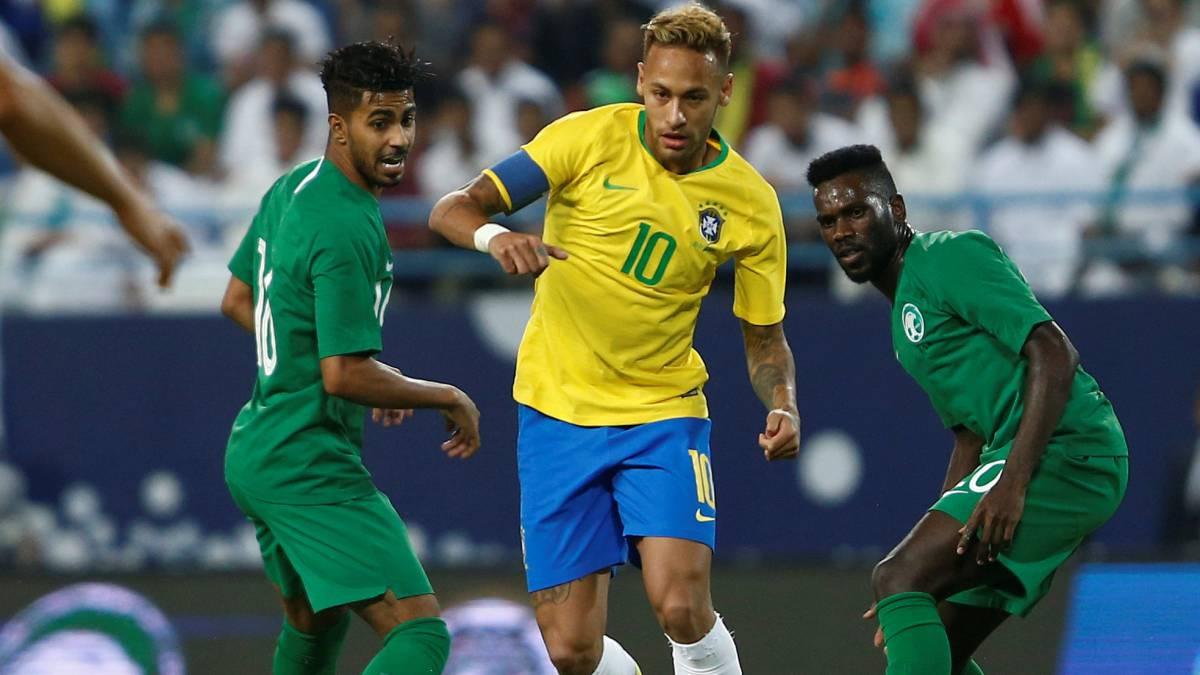 bc740cf0fbb Saudi Arabia 0-2 Brazil  match report