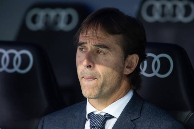 Still time | Julen Lopetegui of Real Madrid.