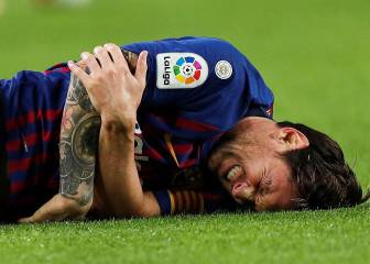 Which Barcelona matches is injured Messi set to miss?