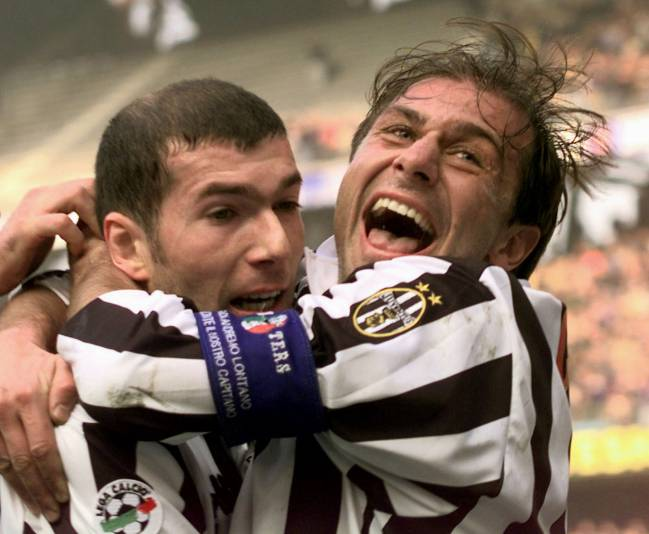 Old chums | Juventus players Antonio Conte and Zinedine Zidane back in the day.