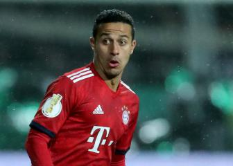 Bayern's Thiago to miss 'several weeks' with ankle injury