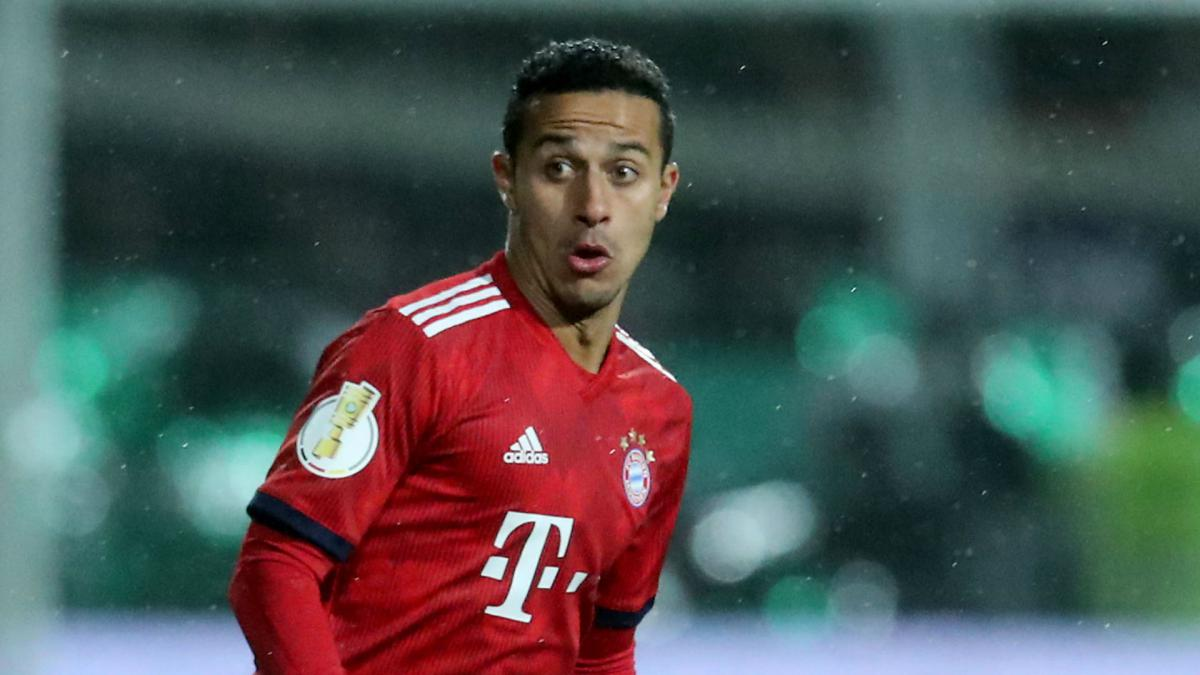 Thiago to miss 'several weeks' with ankle injury