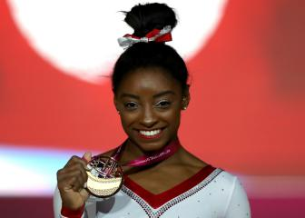 Simone Biles claims record 13th world gold in Doha