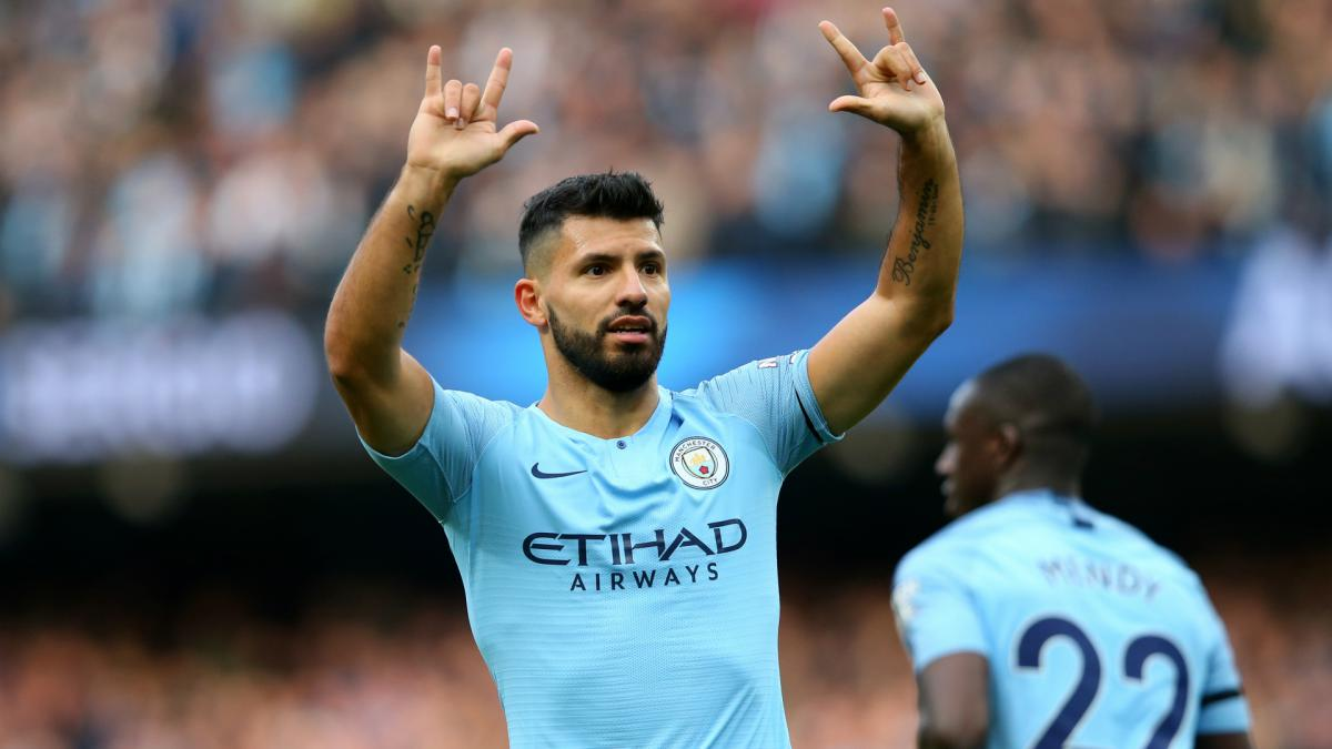 Aguero revels in racing to Premier League milestone
