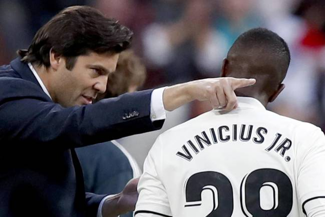 Santiago Solari could consider Vinicius for Plzen challenge.