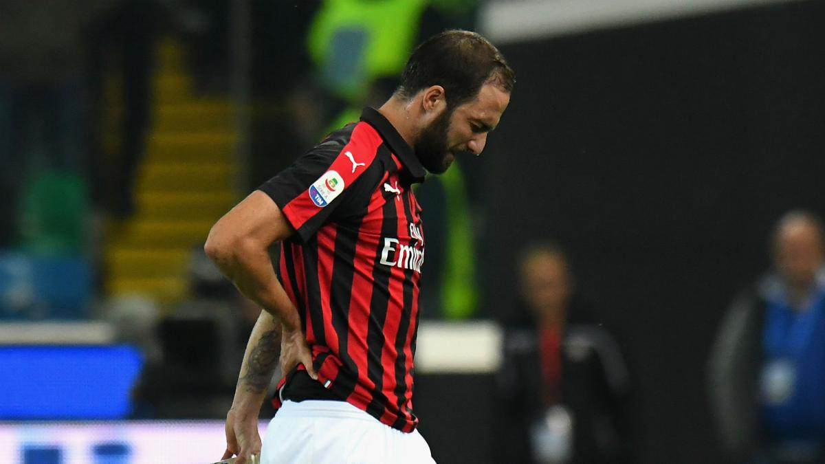 Higuain ruled out of Betis clash