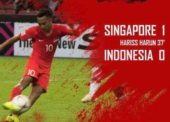 Singapore wins its opening Suzuki Cup match against Indonesia