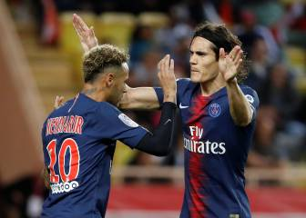 Neymar delighted with Cavani hat-trick in Monaco win
