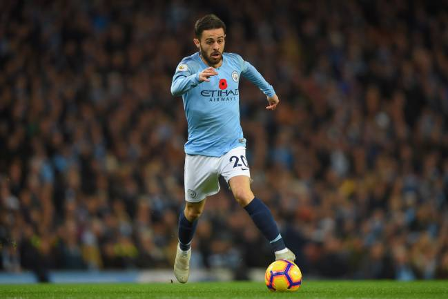 10% | Bernardo Silva of Manchester City.