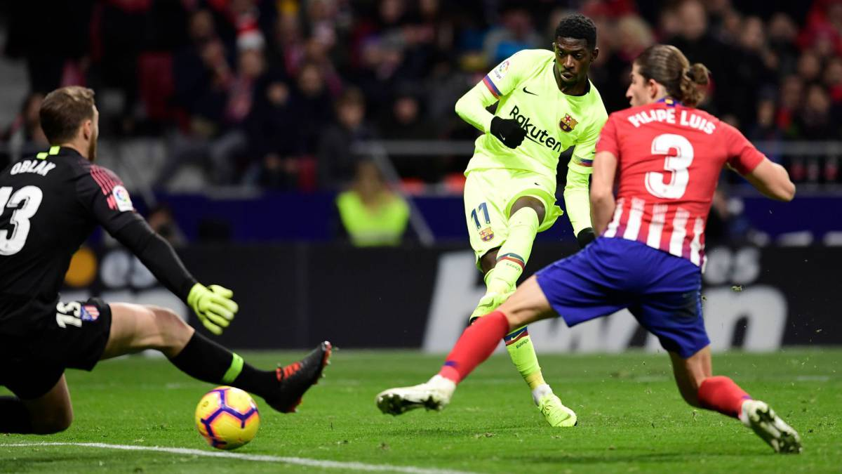 Late Dembélé equaliser denies Atleti after Costa ends drought