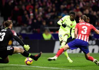 Late Dembélé leveller denies Atleti after Costa ends drought
