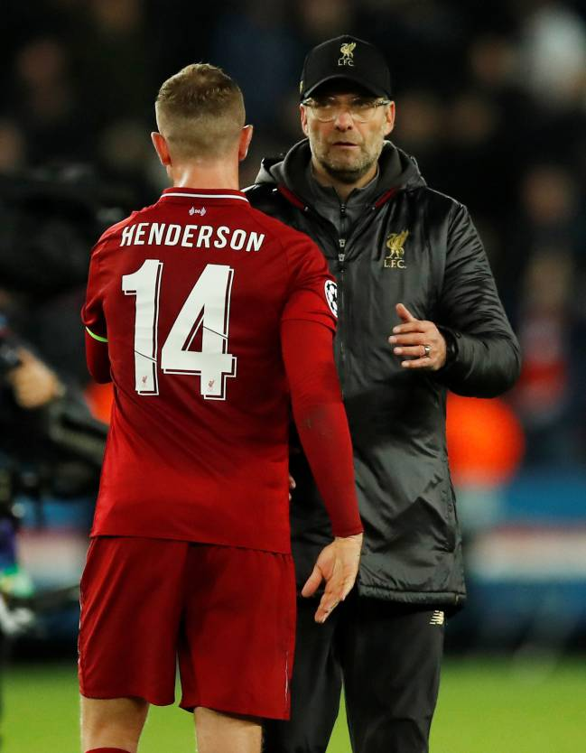 No Hendo | Liverpool manager Jürgen Klopp won't have captain Jordan Henderson for derby.