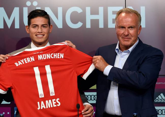 Colombian midfielder James Rodriguez upon joining Bayern Munich.