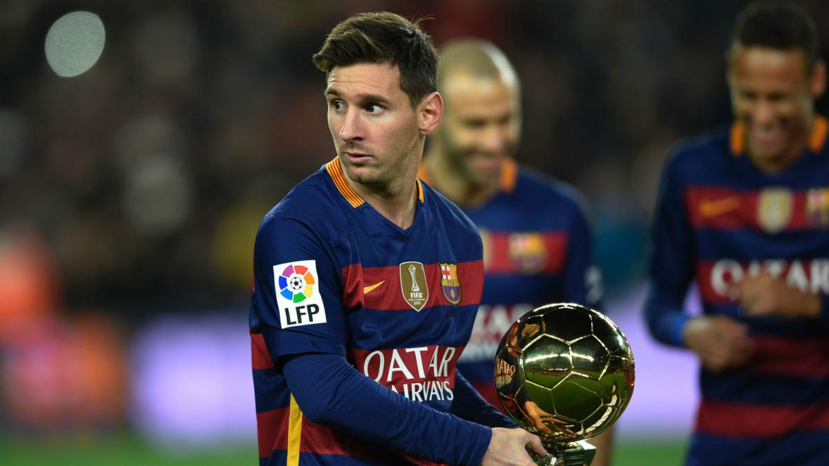Messi not in Ballon d'Or top three for first time since 2006