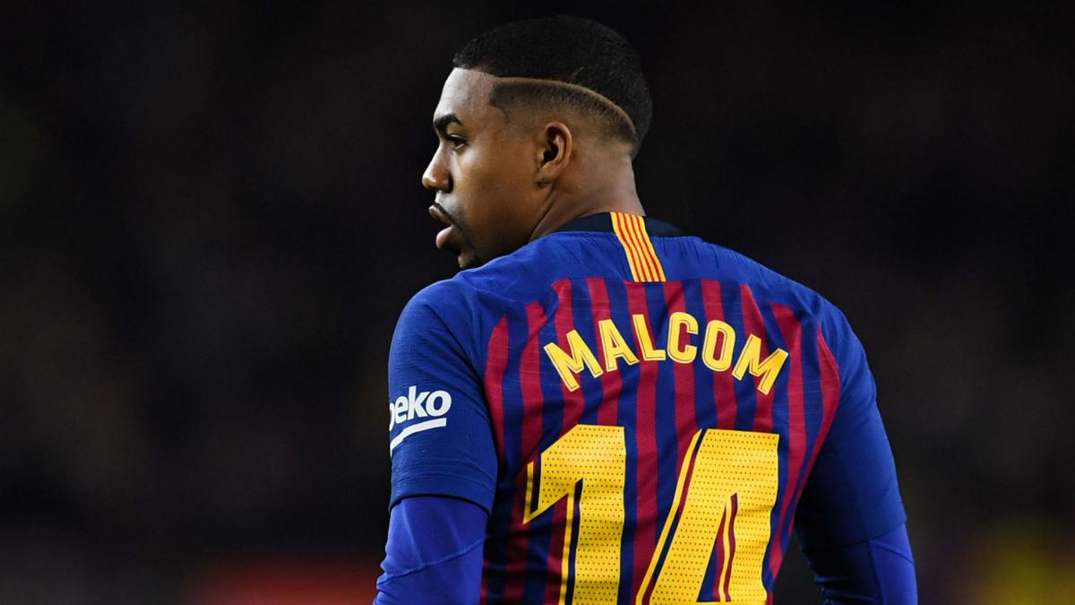 Barcelona's Malcom out for 10-15 days with ankle sprain