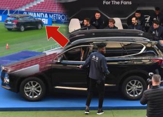Atlético's Thomas almost crashes car in Hyundai event