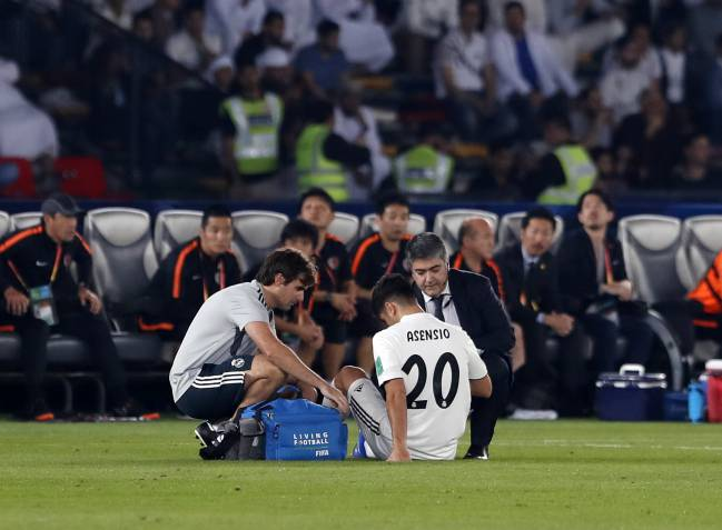 Treatment | Asensio's injury being assessed against Kashima.
