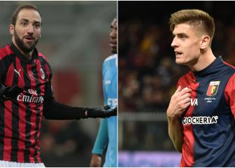 Higuaín and Piatek on the move on busy day for AC Milan