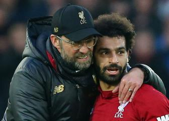 Klopp hails 'outstanding' Salah as Egyptian hits new landmark