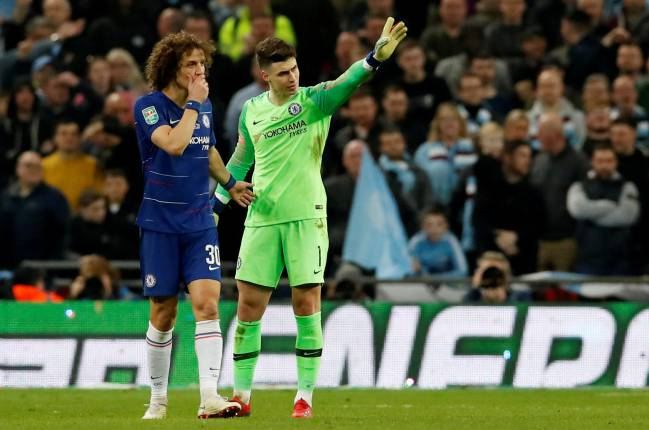 Lack of leaving the pitch from Chelsea's Kepa Arrizabalaga.