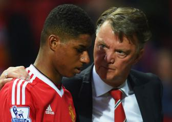 Rashford and Martial thank Van Gaal on his retirement