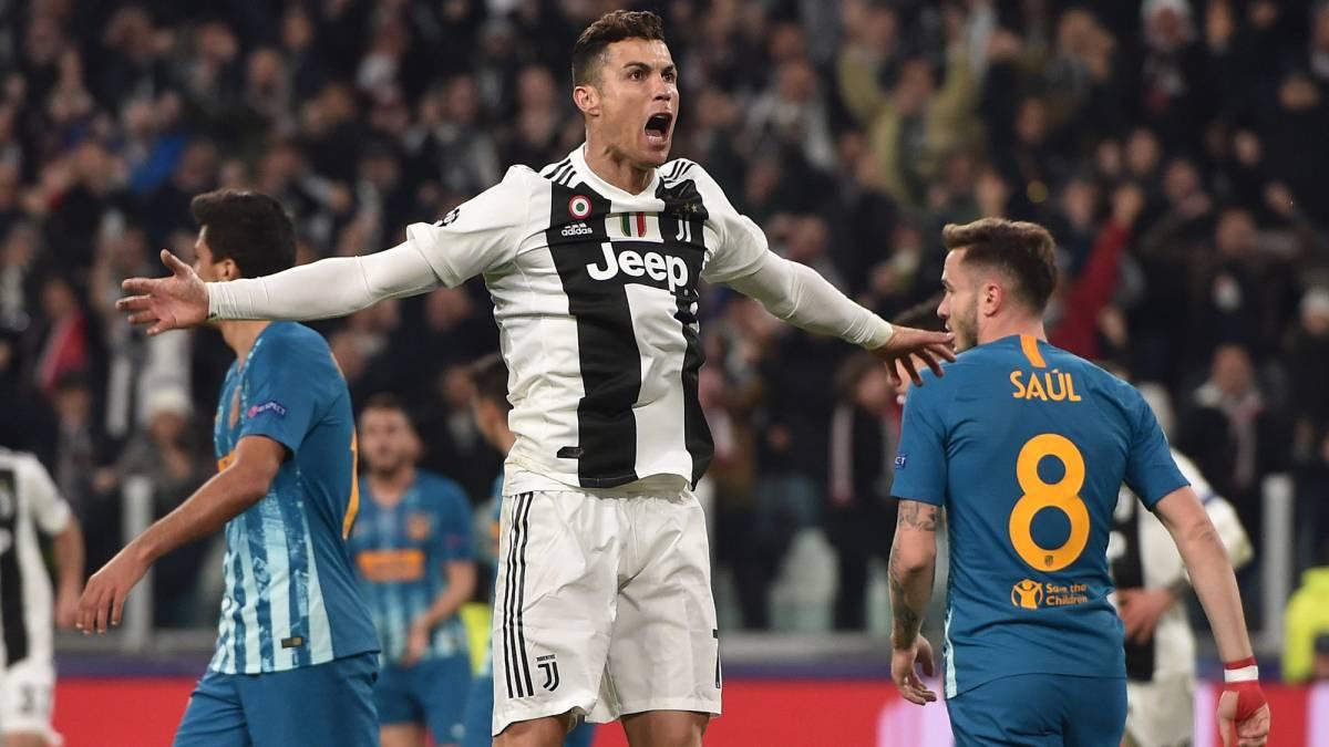 7e6b08ed8 Cristiano Ronaldo hat-trick sees Juventus progress over Atlético