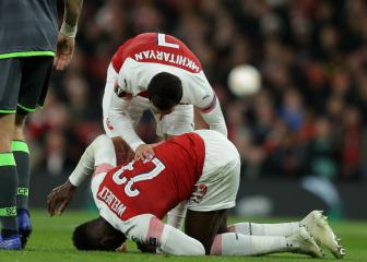 Danny Welbeck back in Arsenal training after broken ankle