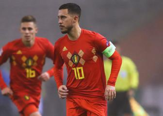 Roberto Martínez salutes Hazard ahead of 100th cap