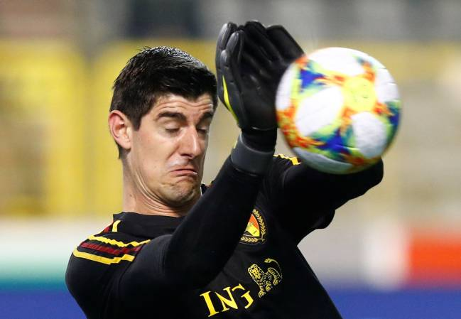 Stop it | Belgium's Thibaut Courtois.