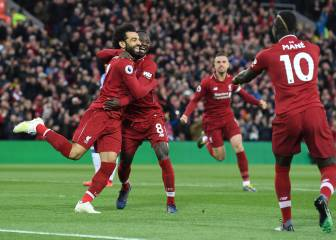 Liverpool go top as Mané and Salah grab braces apiece