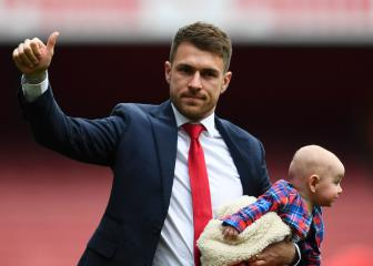 Ramsey 'very emotional' at Arsenal farewell