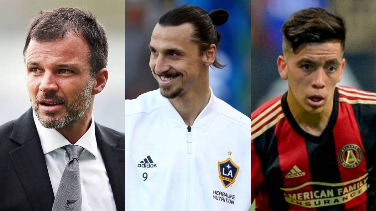 dcfd8daed MLS week 10 highlights. Collage of Anthony Hudson, Zlatan Ibrahimovic and  Ezequiel Barco