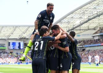 City hit four in Brighton to pip Liverpool to league title