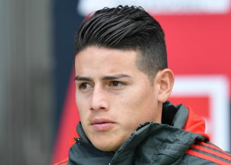 James Rodríguez steps up Bayern training