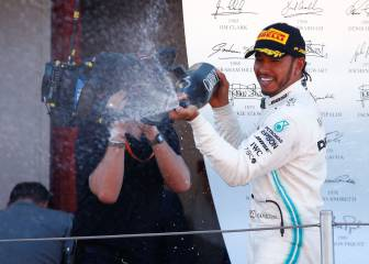 Mercedes match one-two record as Hamilton wins