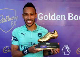 Aubameyang proud to share Golden Boot with fellow Africans Salah and Mané