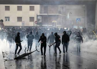Lazio ultras and police clash ahead of Coppa Italia final