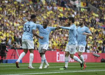 Man City outclass Watford 6-0 to secure historic treble