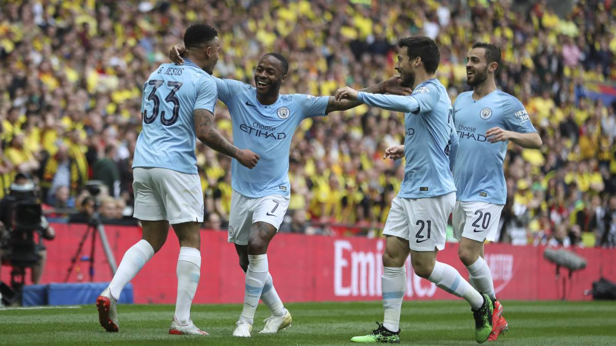 a78912f78d6 Man City outclass Watford 6-0 to secure historic treble - AS.com