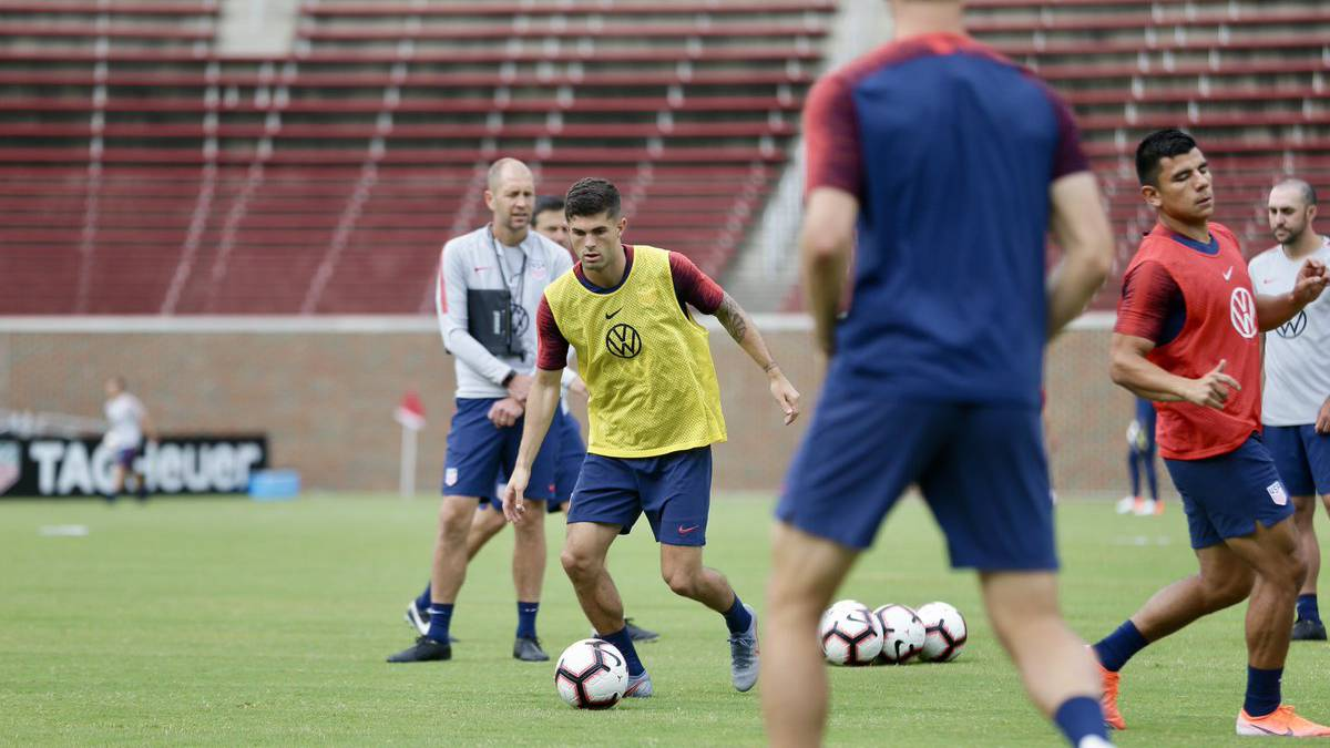 e844012f4 Christian Pulisic at training camp with the US men's national team