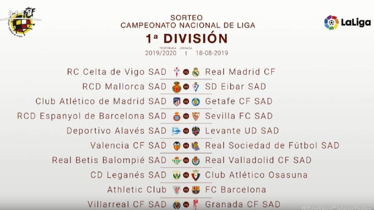Laliga 2019 20 Fixture List As Com