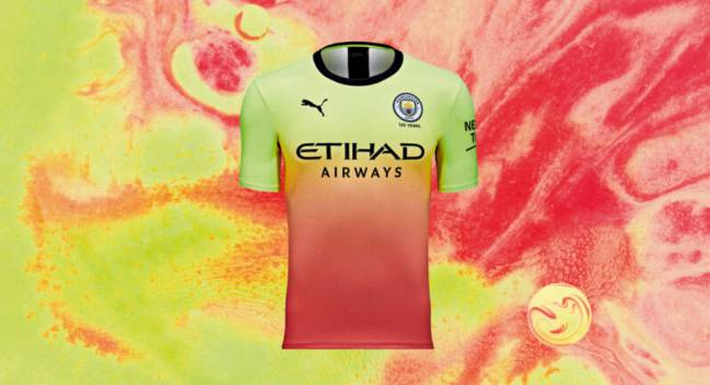 hot sale online 2b677 4a46a Man City launch 'flamboyant' new 3rd kit and the internet ...