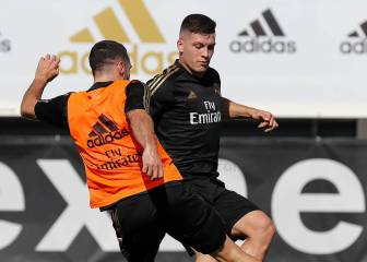 Jovic and Courtois rejoin Real Madrid training