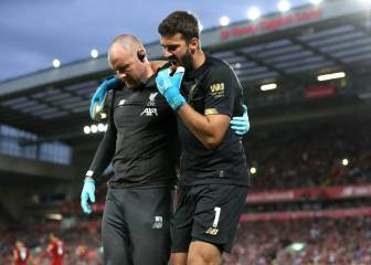 Liverpool's Alisson sidelined for 4-6 weeks