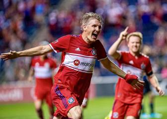 Bastian Schweinsteiger gets off the mark in dramatic style
