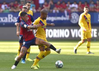 Barcelona concede late penalty to draw with Osasuna
