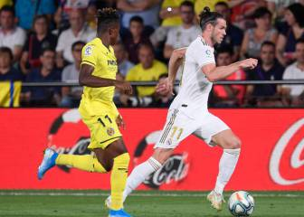 Bale brace and red card as Villarreal hold Madrid