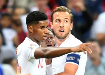 Marcus Rashford learning from master finisher Harry Kane