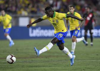 Vinicius makes international debut as Brazil stumble