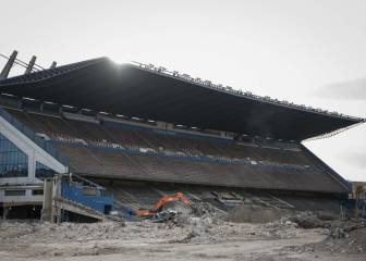 The Vicente Calderón... going, going, almost gone